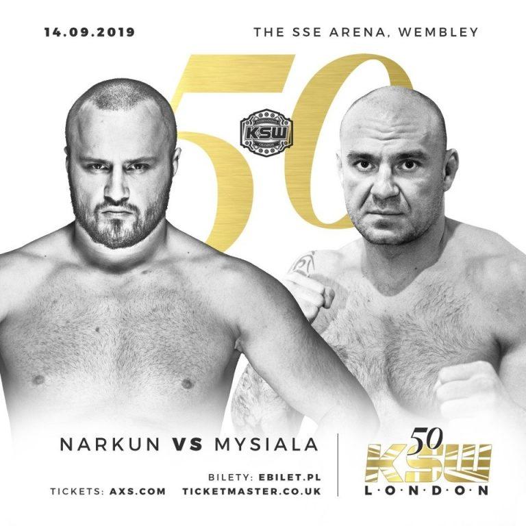 KSW 50 Tomasz Narkun vs Przemysław Mysiala